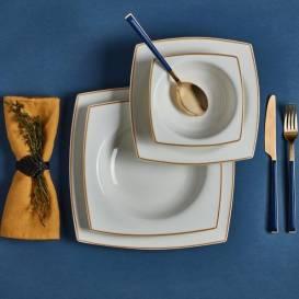 Neva - Detay 48 Parça Kare Yemek Takımı - 12 Kişilik