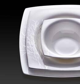 Yasmin 60 Parça Bone Premium Yemek Takımı - Thumbnail