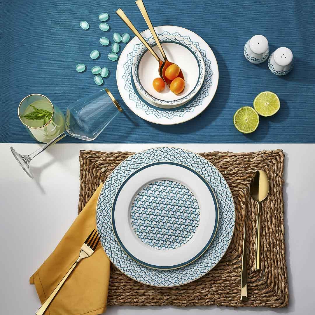 Neva - Mentol 24 Parça Yuvarlak Yemek Takımı