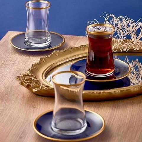 Neva - Yakamoz 6 Kişilik Cam Çay Seti