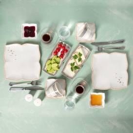 Grizay Koro 32 Parça Kahvaltı Takımı - Thumbnail