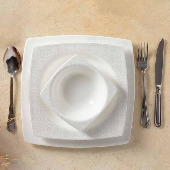 Grizay Koro 60 Parça Kare Yemek Takımı