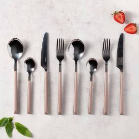 Neva - Rose Chocolate Plus 24 Parça Çatal Kaşık Bıçak Seti