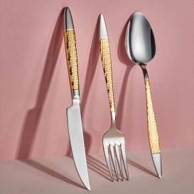 Neva - Mabel Gold 84 Parça Çatal Kaşık Bıçak Seti