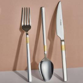 Neva - Kuşak Gold 84 Parça Çatal Kaşık Bıçak Seti