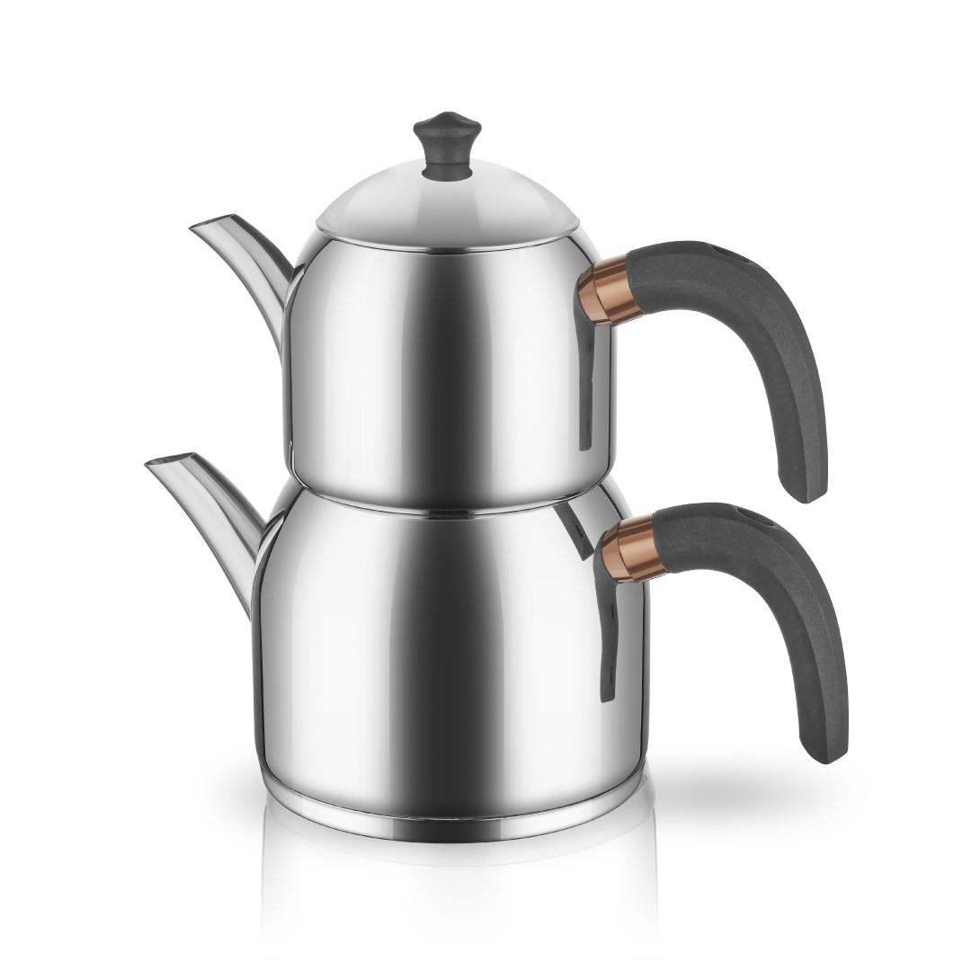 Grizay Leya Çelik Çaydanlık