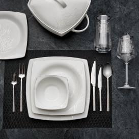 Neva - Yasmin 60 Parça Kare Yemek Takımı