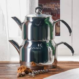 Neva - Hemdem Büyük Boy Çelik Çaydanlık